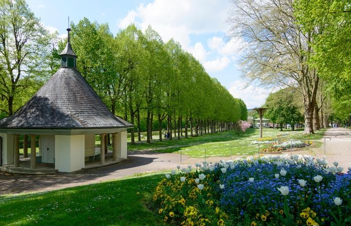 Karlsquelle, uma das fontes de água potável da cidade-spa Bad Mergentheim