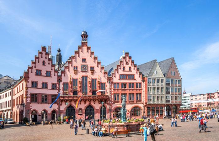 Römerberg, a antiga praça central de Frankfurt